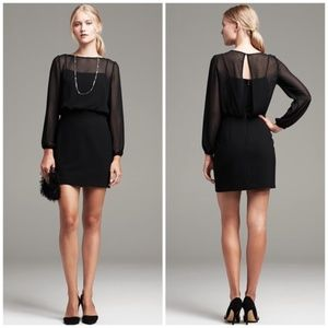 Banana Republic Sheer Overlay Black Mini Dress 6